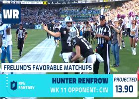 Cynthia Frelund's 10 most favorable Flex matchups | Week 11