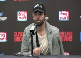 Baker Mayfield reacts to shoulder injury, status