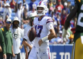 Josh Allen sprints left, throws right to Beasley for 21 yards