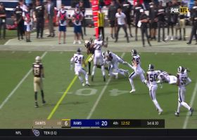 Tre'Quan Smith shakes off Aaron Donald's tackle for 28-yard catch and run