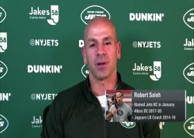 Robert Saleh reacts to Jets facing Sam Darnold in Week 1