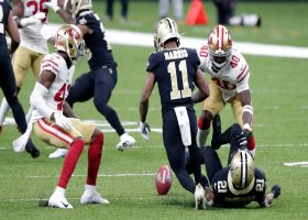 49ers recover after Deonte Harris mishandles the punt