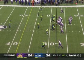 Cousins SOMEHOW hits Rudolph under major pressure for 17 yards