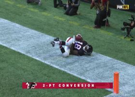 Calvin Ridley uses insane vertical leap to bring down Schaub's throw for two-point conversion
