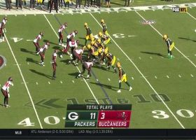 Jamaal Williams is AMPED after 25-yard burst into Bucs territory
