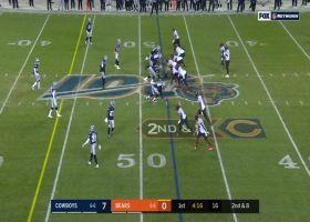Mitchell Trubisky zips 19-yard pass to J. P. Holtz