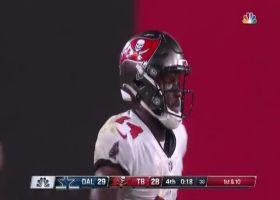 Brady's perfect back-shoulder throw locates Godwin for key 24-yard gain