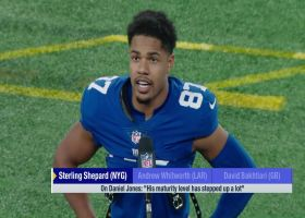 Sterling Shepard praises Daniel Jones' maturity after win vs. Eagles
