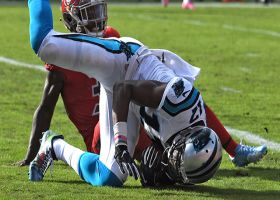 Funchess muscles through defenders for 10-yard TD