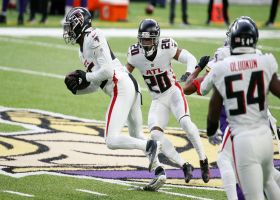 Deion Jones picks off Kirk Cousins on first play from scrimmage