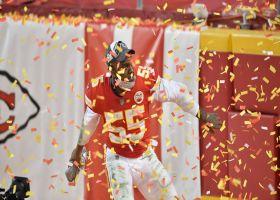 Frank Clark, Chiefs celebrate AFC championship win with confetti