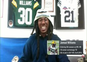 Jamaal Williams reacts to Aaron Jones' new deal with Packers
