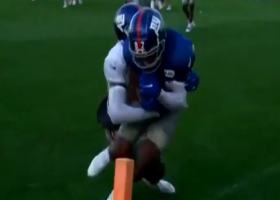 Danny Dimes lobs deep TD to toe-tapping Shepard at Giants camp