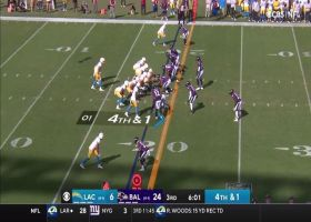 Chargers fail to convert on fourth down from own 19-yard line