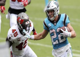 McCaffrey powers in to get Panthers' first TD of the day