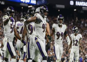 Calais Campbell leads Ravens' flock into backfield for fourth-down TFL