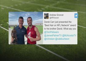 Derek Carr awards brother David 'Best Hair on NFL Network' trophy