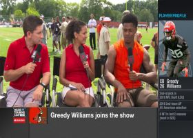 Cleveland Browns cornerback Greedy Williams discusses going up against Odell Beckham Jr. during camp