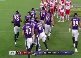 Lamar Jackson rewards Harbaugh's gutsy fourth-down call with strong conversion
