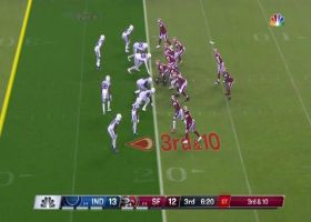 Mohamed Sanu works across the middle for chain-moving 16-yard grab