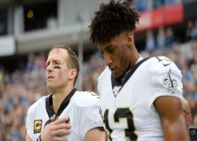 Michael Thomas says he and Brees have reconciled after QB's comments on kneeling
