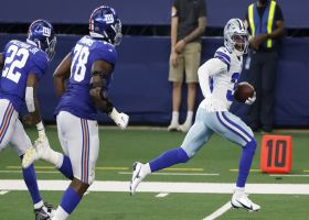 Rookie LT Andrew Thomas makes two-point grab on designed play