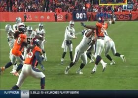 Deja vu for Broncos! Shelby Harris repeats history on game-sealing play vs. Raiders