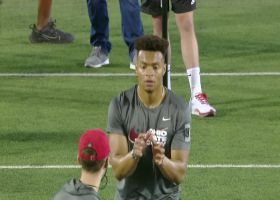 Justin Fields launches Russell Wilson-esque moonshot throw at pro day
