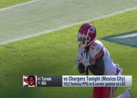 'MNF' stat projections for Chiefs-Chargers   'NFL Fantasy Live'