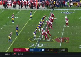 Dan Arnold torches Rams LB in man coverage with double move for 37 yards