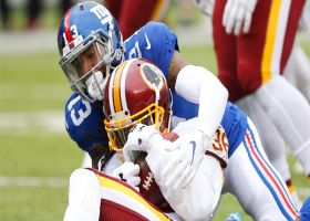 D.J. Swearinger picks off Eli Manning in red zone