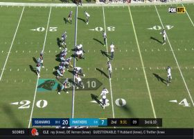 Rasheem Green clamps down on Kyle Allen for third-down sack