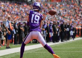 Adam Thielen's contested 12-yard sideline grab moves chains