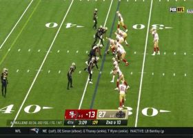 Nick Mullens hits Jordan Reed in stride for 26-yard gain