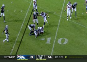 Raiders swarm Joe Flacco for big sack on third and goal
