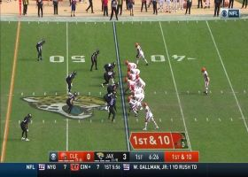 Jarvis Landry swings across formation for 21-yard pickup