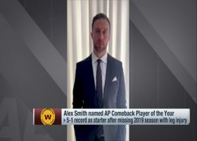 Alex Smith reacts to winning 2020 AP Comeback Player of the Year