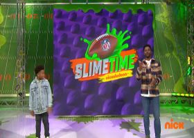 Josh Allen tells Dylan Schefter how far he can throw a football | 'NFL Slimetime'