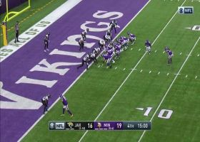 Jaguars fall on Vikings' mishandled handoff for key red-zone turnover