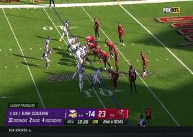 Bucs ambush Cousins for back-to-back red-zone sacks