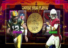 Who has the bigger game in Week 8: Aaron Rodgers or Kyler Murray?