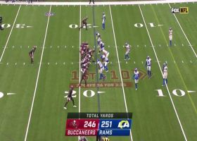 Cameron Brate runs free for 17 yards on well-designed TE screen