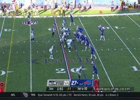 Bills dial up perfect screen pass vs. blitz with 20-yard gain from Zack Moss