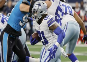 Ezekiel Elliott bursts through hole for explosive 19-yard pickup