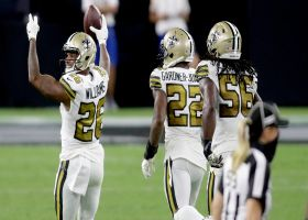 Saints fall on Jalen Richard's fumble for midfield turnover