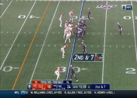 Brady showcases pinpoint accuracy on throw to Sanu for 19 yards