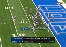 Lions' D drop Dak in drive stopping sack