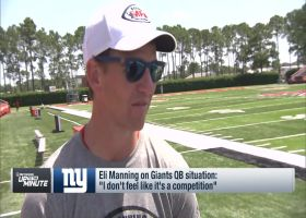 New York Giants quarterback on Eli Manning on Giants' QB situation: 'I don't feel like it's a competition'