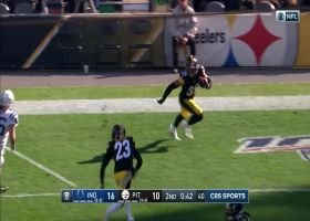 Vinatieri's extra point kick blocked by Cameron Heyward