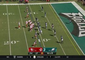 Jauan Jennings' first NFL catch goes for TD just before halftime